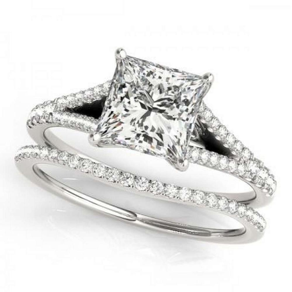 CERTIFIED PLATINUM 1.28 CTW G-H/VS-SI1 DIAMOND BRIDAL SET #IRS86727