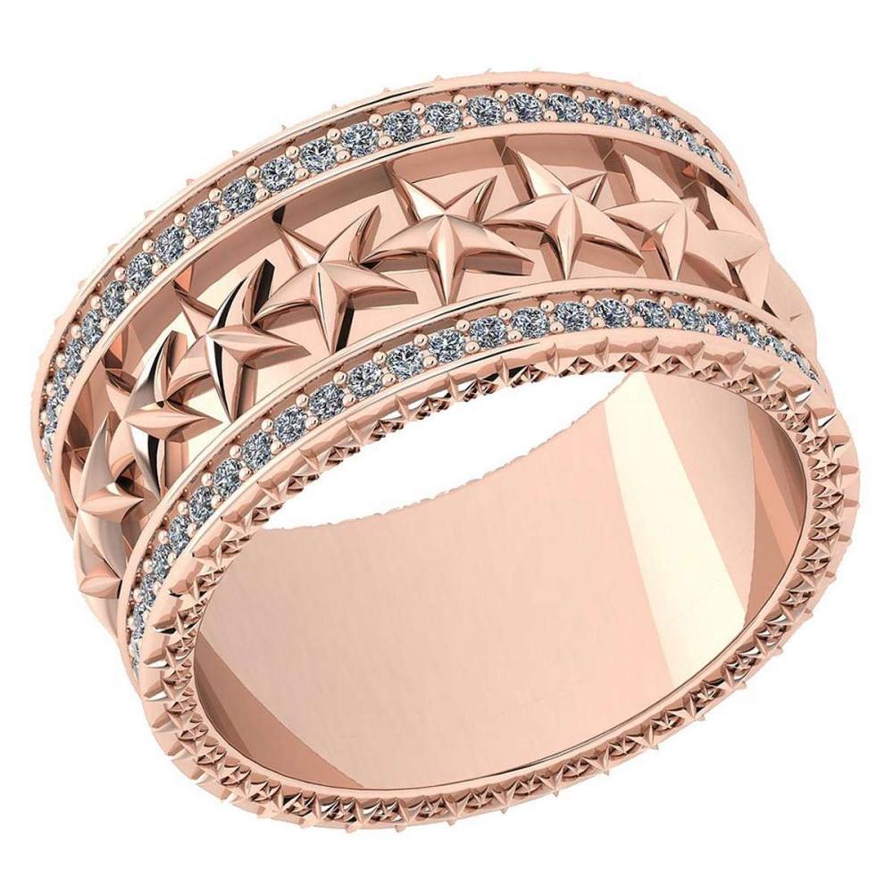 Certified 0.52 Ctw Diamond VS/SI1 10K Rose Gold Band Ring Made In USA #IRS24327
