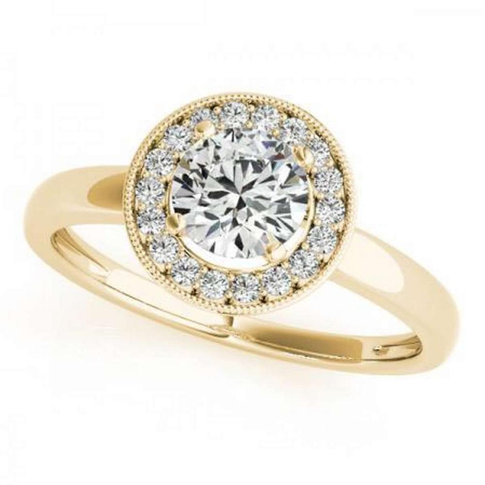 CERTIFIED 18K YELLOW GOLD 1.36 CT G-H/VS-SI1 DIAMOND HALO ENGAGEMENT RING #IRS86405