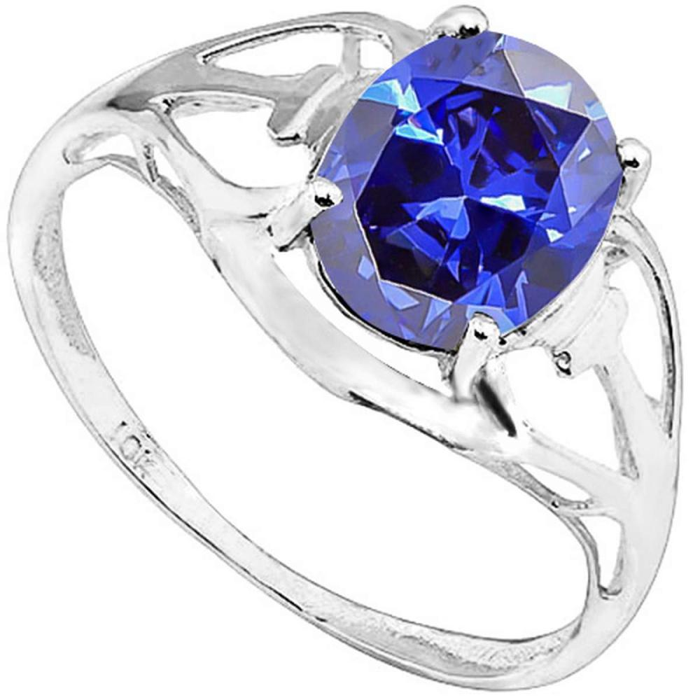 2.07 CT SKY BLUE TOPAZ 10KT SOLID WHITE GOLD RING #IRS93795