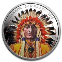 2016 Canada 5 oz Proof Silver $50 Portrait of a Chief #75396v3
