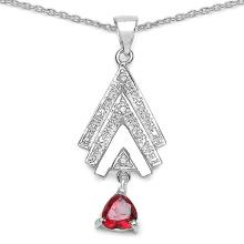 1.80 ct. t.w. White Cubic Zirconia and Garnet Cubic Zirconia Set in Sterling Silver #77649v3