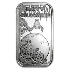 1 oz Silver Bar - Happy Halloween (w/Pouch & Capsule) #74861v3