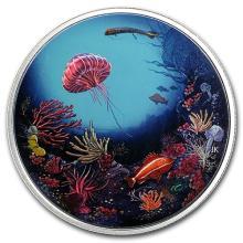 2016 Canada 2 oz Proof Silver $30 Illuminated Underwater Reef #75388v3