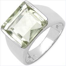 5.70 Carat Genuine Amethyst .925 Streling Silver Ring #78173v3