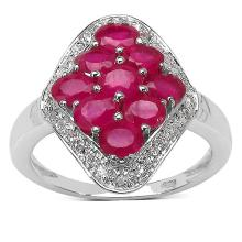 2.50 ct. t.w. Glass Filled Ruby and White Cubic Zircon Ring in Sterling Silver #77462v3