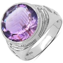 5.60 Carat Genuine Amethyst .925 Sterling Silver Ring #77488v3