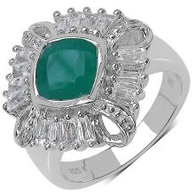 2.09 Carat Multi Gems and 0.01 ct.t.w Diamond Accents Sterling Silver Ring #77121v3