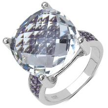 11.60 ct. t.w. Crystal Quartz and Amethyst Ring in Sterling Silver #78115v3