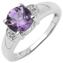 1.30 ct. t.w. Amethyst and White Topaz Ring in Sterling Silver #77439v3