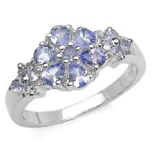 1.10 ct. t.w. Tanzanite and White Topaz Ring in Sterling Silver #77879v3