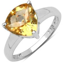 2.31 Carat Genuine Citrine Sterling Silver Ring #77441v3