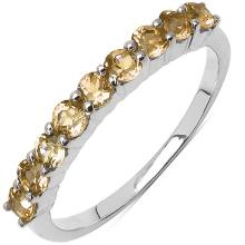 0.75 Carat Genuine Citrine .925 Sterling Silver Ring #76649v3