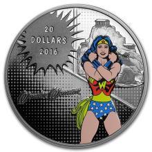 2016 Canada Proof 1 oz Silver $20 Comics Originals: Wonder Woman #75394v3