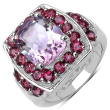 5.70 ct. t.w. Pink Amethyst and Rhodolite Ring in Sterling Silver #78086v3