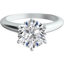 CERTIFIED 0.6 CTW ROUND DIAMOND SOLITAIRE RING 14K GOLD H/SI2 #88801v3