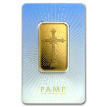 1 oz Gold Bar - PAMP Suisse Religious Series (Romanesque Cross) #75185v3