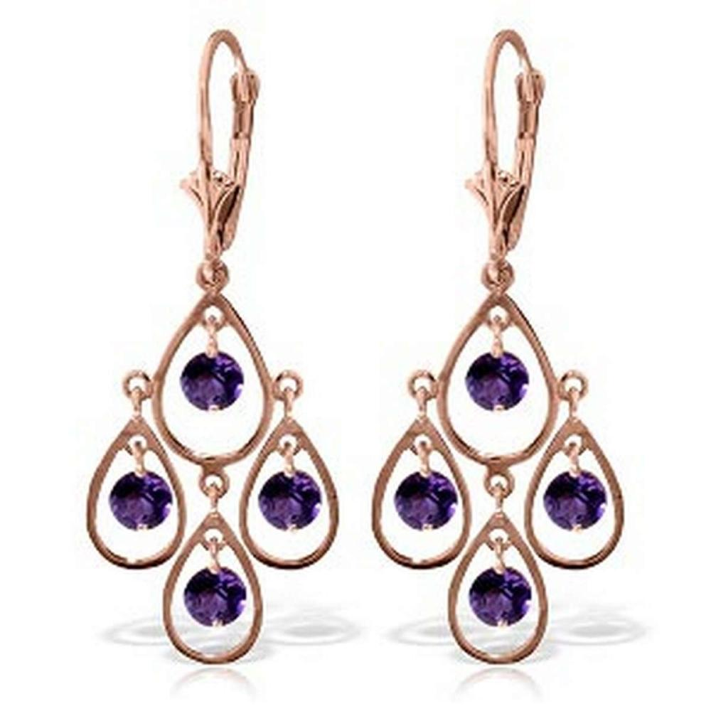 2 4 Carat 14k Solid Rose Gold Amethyst Chandelier Drops Irs