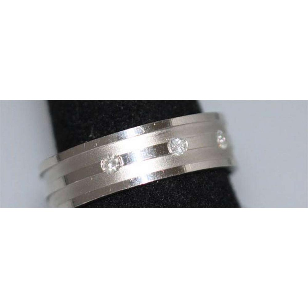 0.15 CTW DIAMOND RING .925 STERLING SILVER #IRS38906