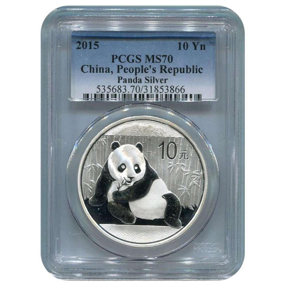 Certified Chinese Panda One Ounce 2015 MS70 PCGS #IRS58036