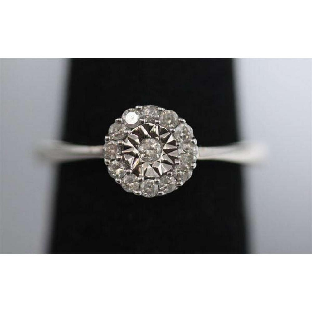 0.26 CTW DIAMOND RING .925 STERLING SILVER #IRS38904