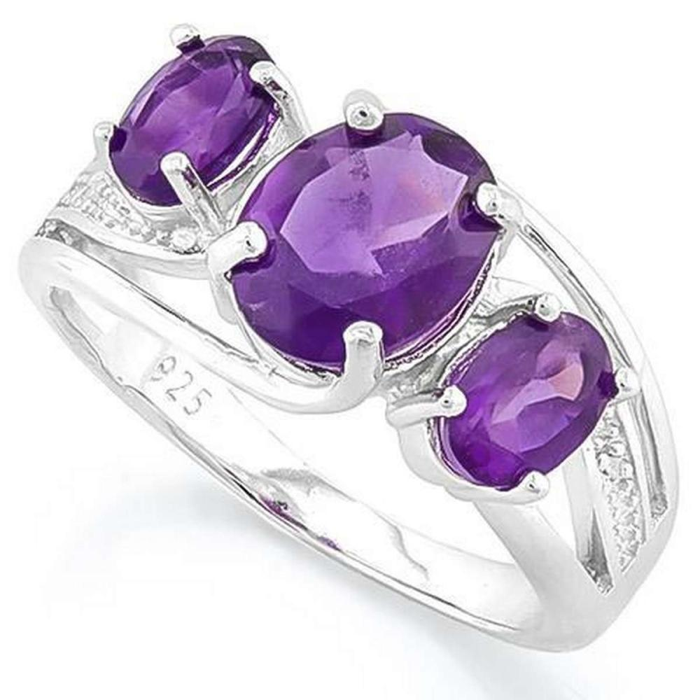 AMETHYST 925 STERLING SILVER RING #IRS36320