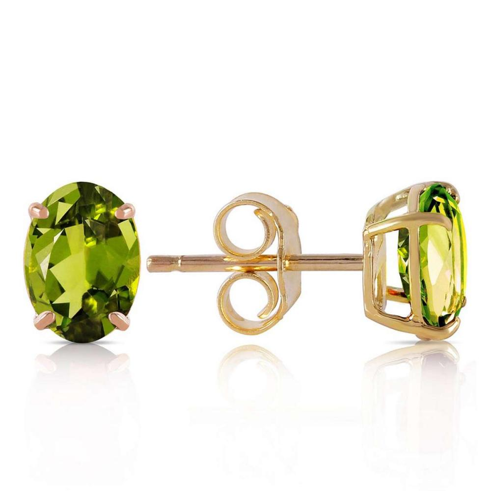 1.8 CTW 14K Solid Gold Love Essentials Peridot Earrings #IRS92072