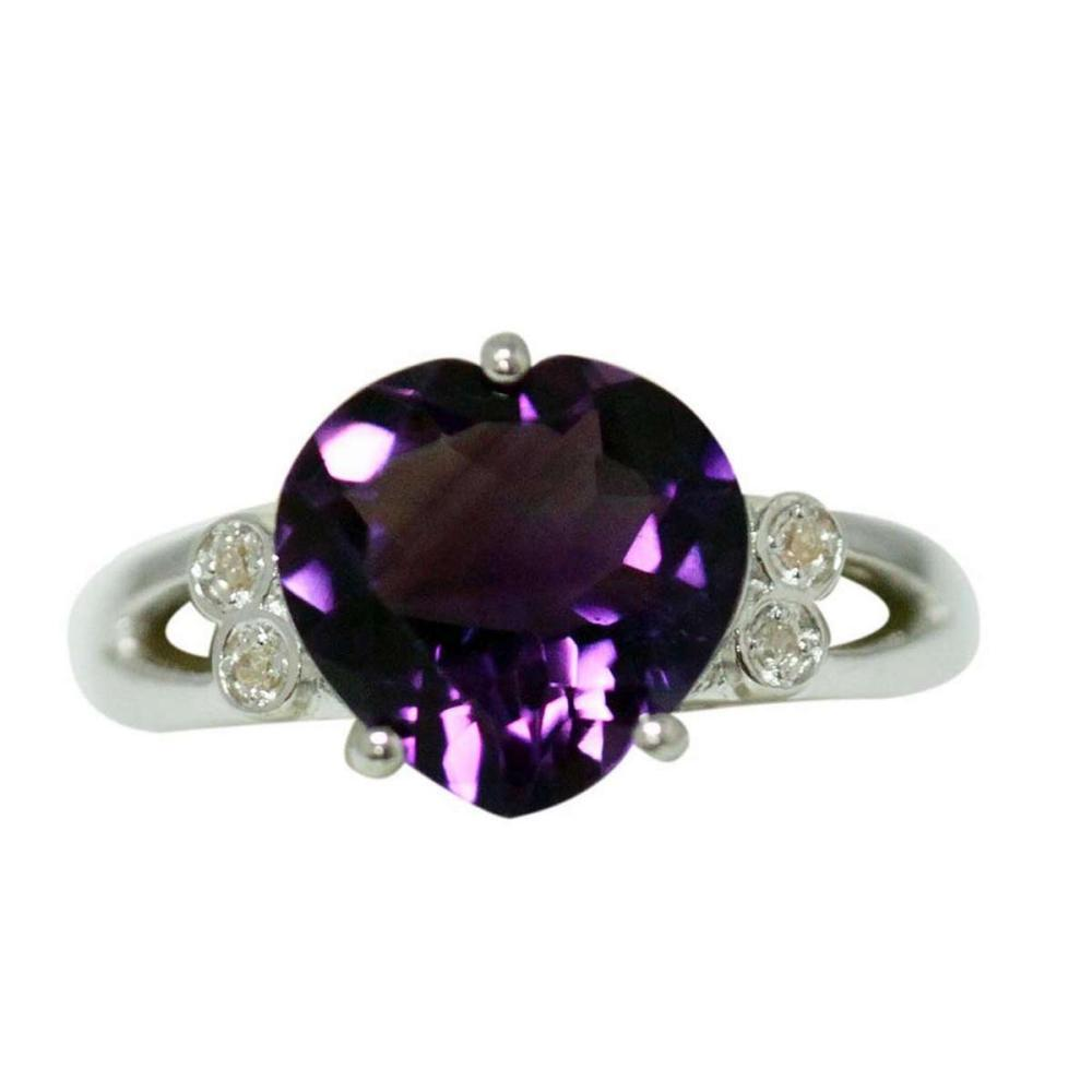 2.72 CTW AMETHYST RING .925 STERLING SILVER #IRS47856