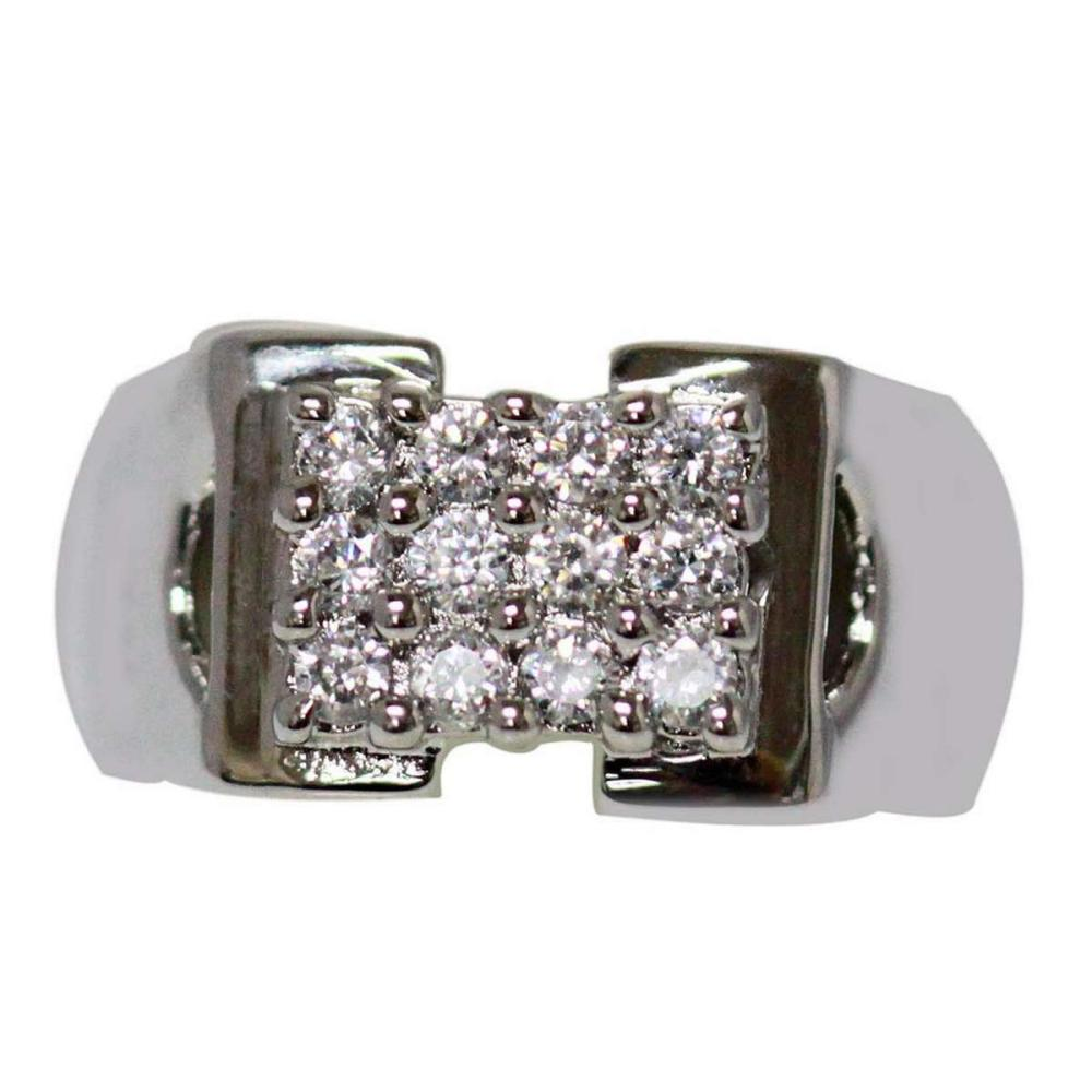 0.70  CZ RING .925 STERLING SILVER #IRS47323