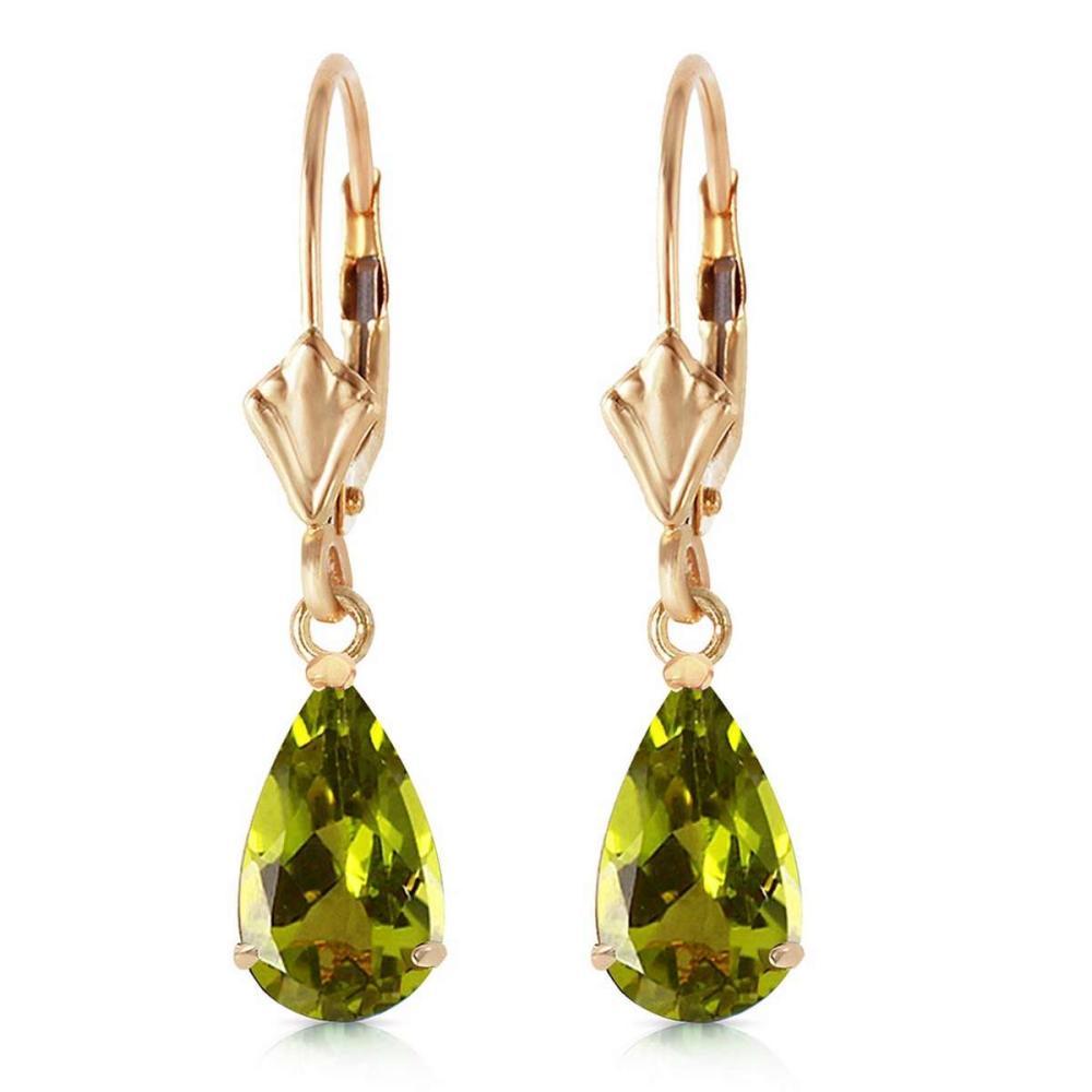 3 CTW 14K Solid Gold Green Grass Peridot Earrings #IRS91667