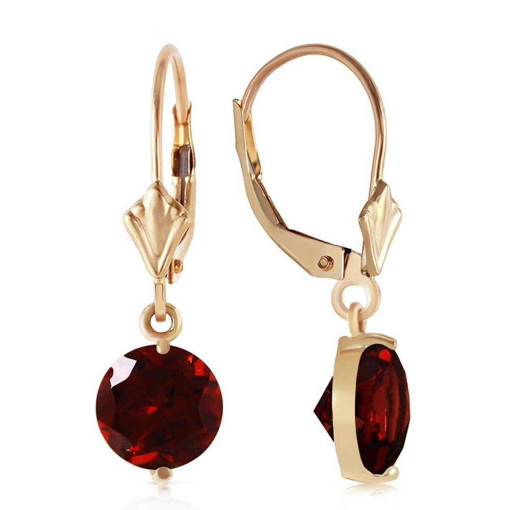 3.1 CTW 14K Solid Gold Prettygirl Garnet Earrings #IRS92093