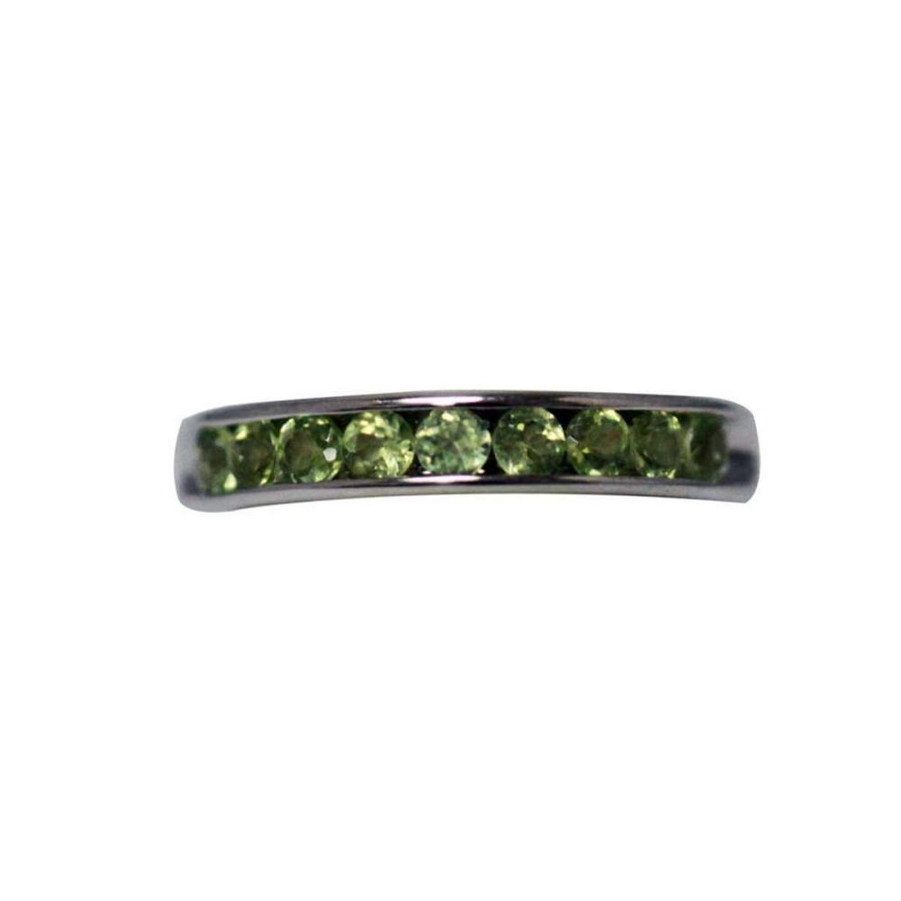 0.69 CTW PERIDOT RING .925 STERLING SILVER #IRS47879