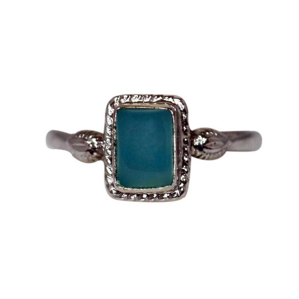 1.10 CTW CALZEDONIA RING .925 STERLING SILVER  #IRS47875