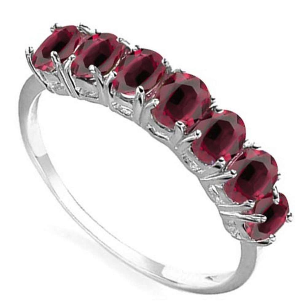 1.35 CTW GENUINE RUBY 10KT SOLID WHITE GOLD RING #IRS57304