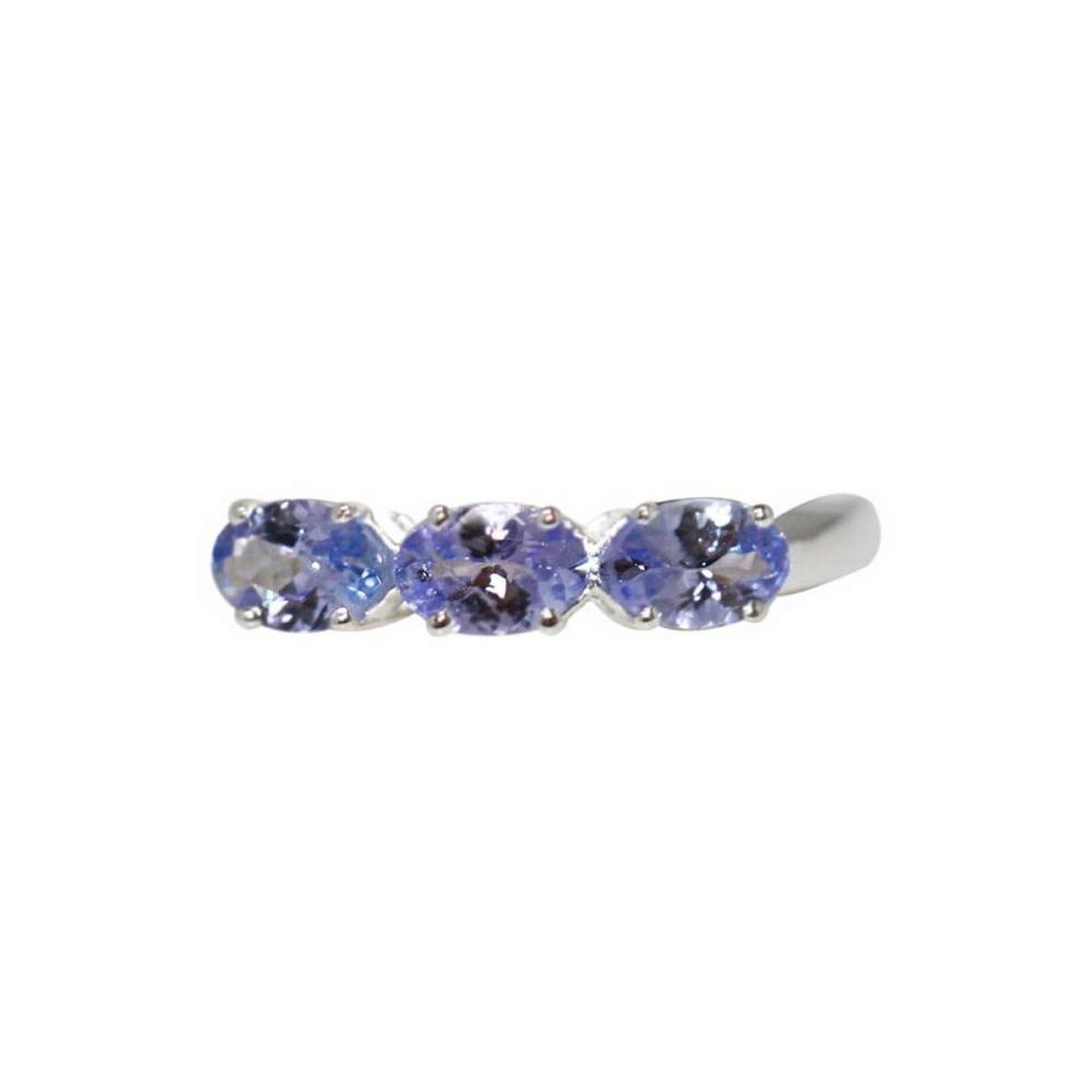 0.90 CTW TANZANITE RING .925 STERLING SILVER #IRS47309
