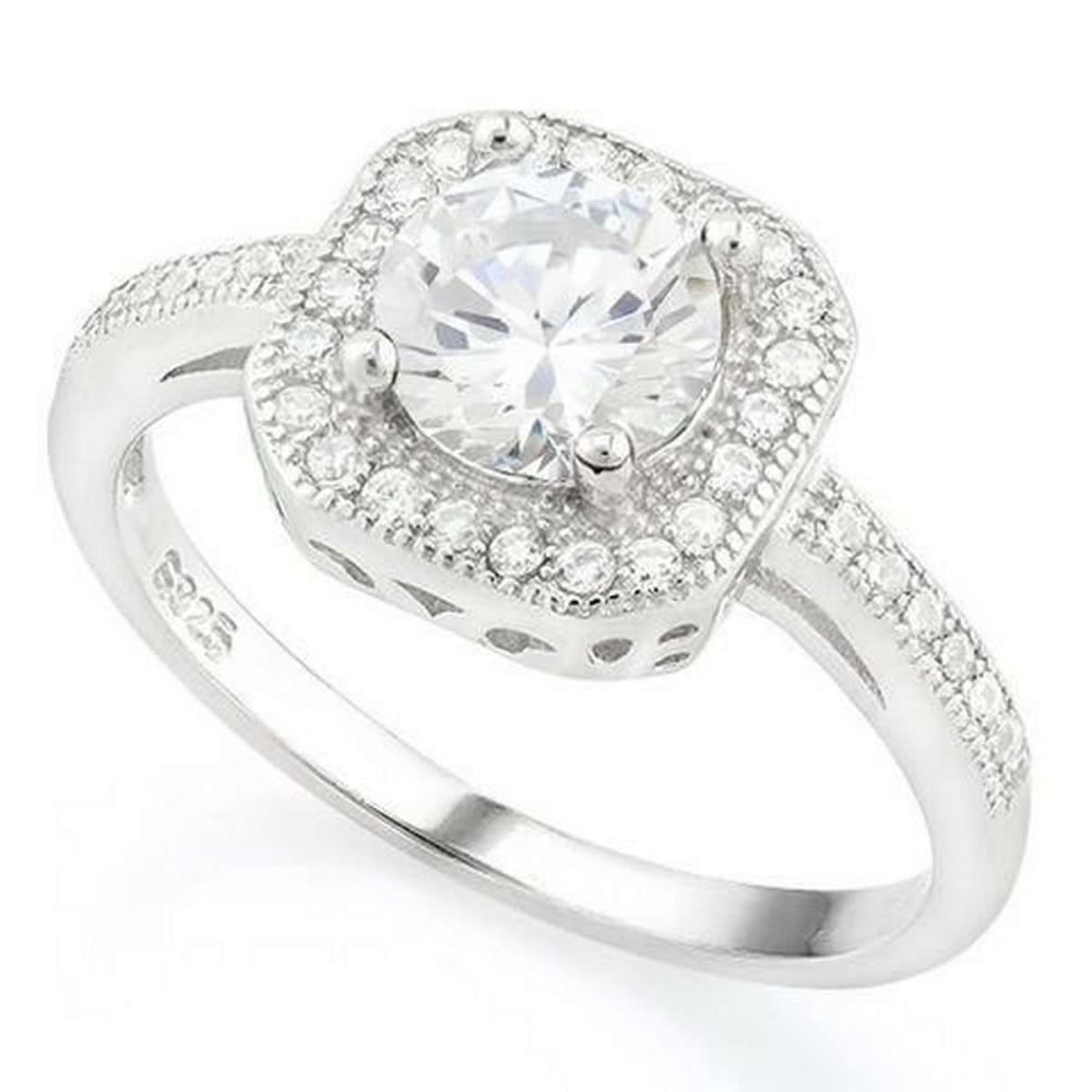 1 CARAT CREATED WHITE SAPPHIRE 925 STERLING SILVER RING #IRS36341