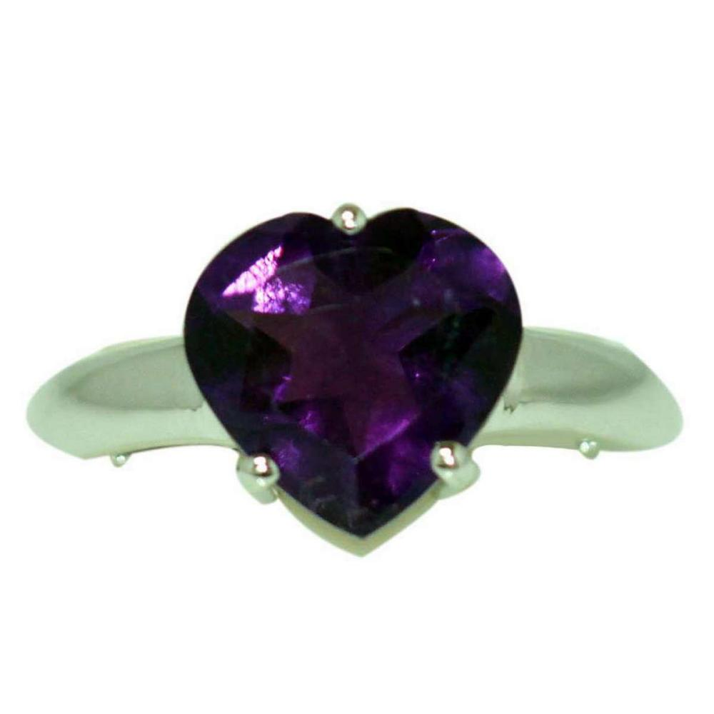 3.50 CTW AMETHYST RING .925 STERLING SILVER #IRS47800