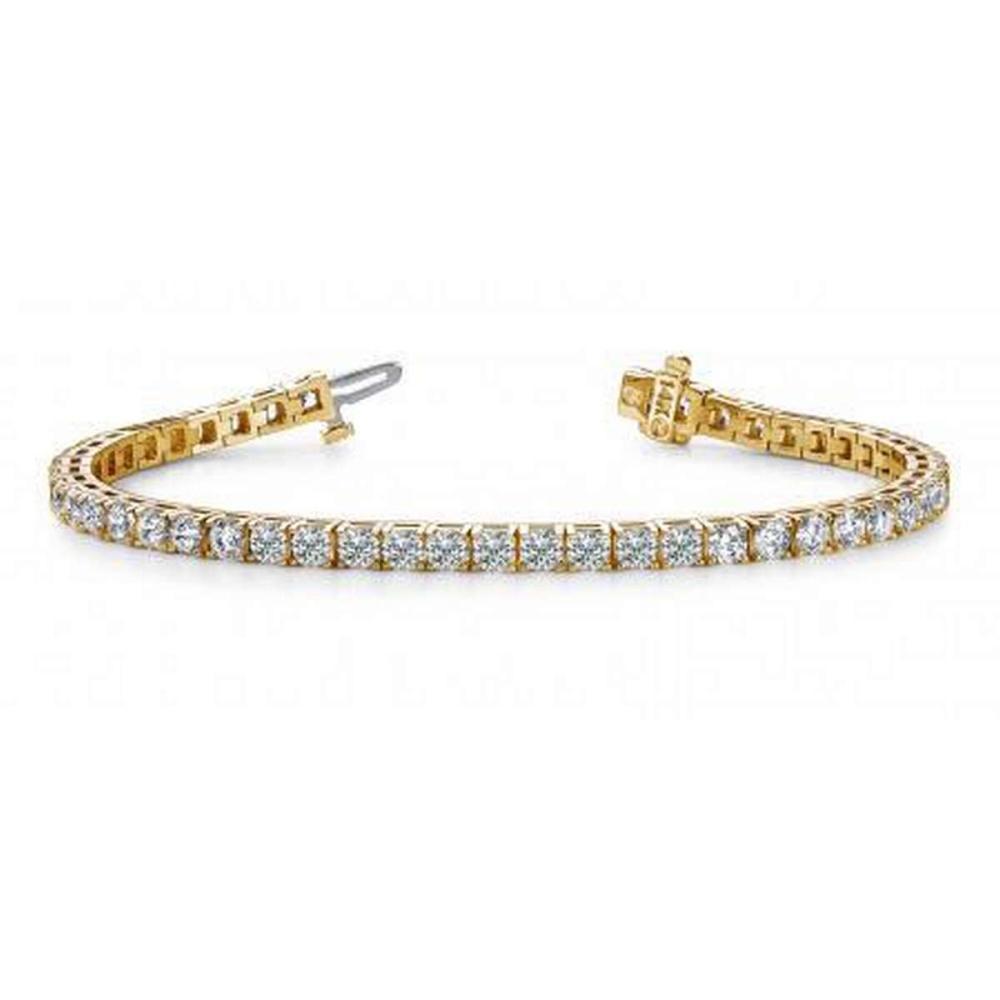 14K YELLOW GOLD 2 CTW G-H VS2/SI1 DIAMOND DREAMS TENNIS BRACELET #IRS19882