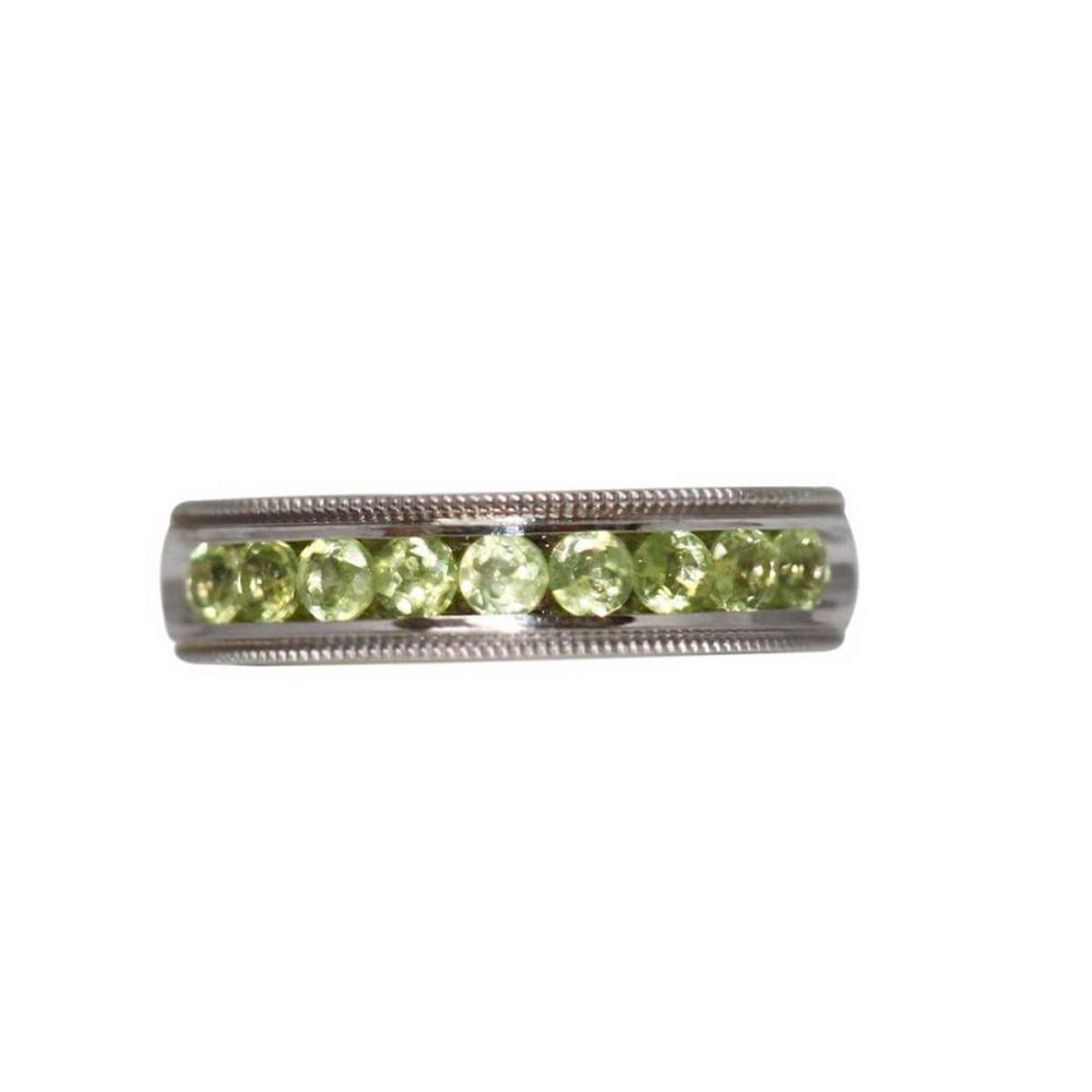 0.66 CTW PERIDOT RING .925 STERLING SILVER #IRS47301