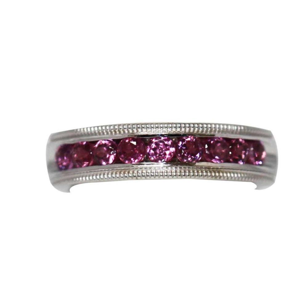 0.60 CTW PINK TOURMALINE RING .925 STERLING SILVER #IRS47794