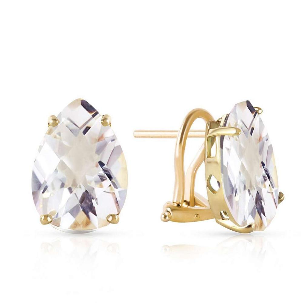 10 ctw 14k solid gold french clips earrings natural white to