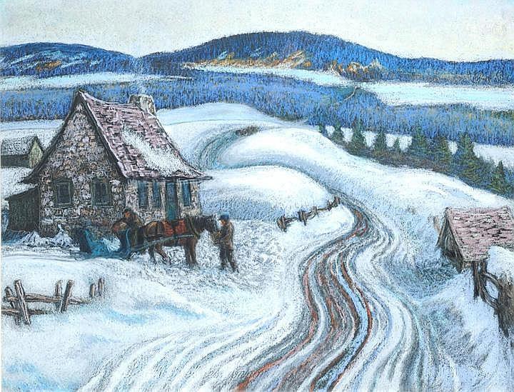 pERRON, Louis-Paul (1919-2004) paysage d'hiver