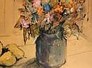 CANTIN, Roger (1930-) Nature morte Aquarelle