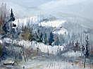 LABELLE, Fernand (1934-) Paysage d'hiver Huile sur