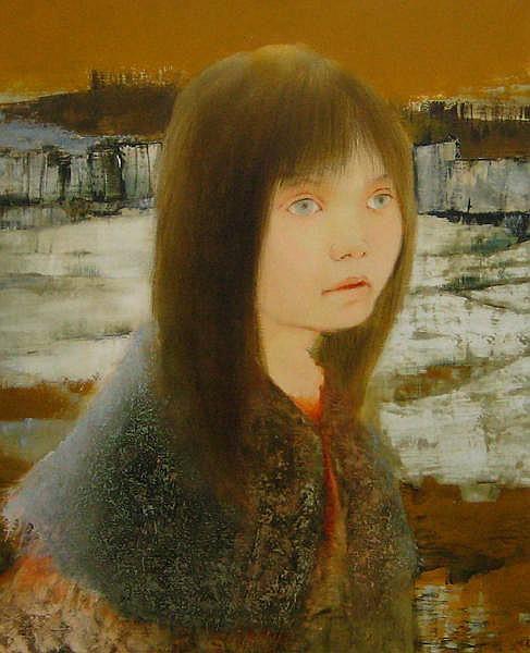LAVARENNE, Pierre (1928-) «Buste à la cape de