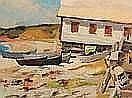 TOMMI, Alberto (1917-1960) Maison de pêcheur Huile