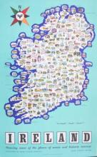 ANON - IRISH TOURIST BOARD IRELAND MAP SHOWING PLACES