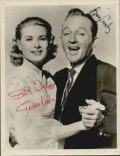 GRACE KELLY & BING CROSBY SIGNED 7 X 9 PHOTOGRAPH. THIS