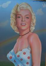 MARILYN MONROE CHERRY ON SILVER ,BY MONTE DOLACK 1982