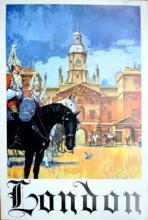 LONDON TRAVEL VINTAGE POSTER S.WISNOM